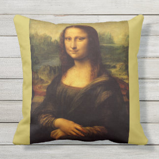 Mona Lisa by Leonardo da Vinci Cushion