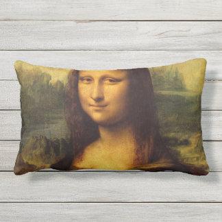 Mona Lisa by Leonardo da Vinci Outdoor Cushion