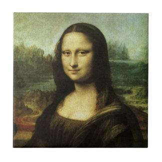 Mona Lisa by Leonardo da Vinci, Renaissance Art Small Square Tile