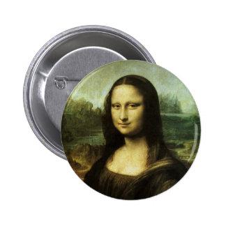 Mona Lisa by Leonardo da Vinci Vintage Renaissance Pinback Button