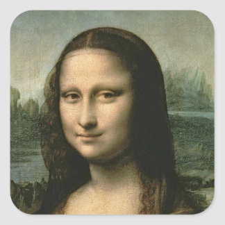 Mona Lisa, c.1503-6 Square Sticker