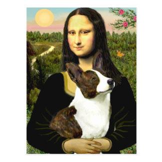 Mona Lisa - Cardigan Welsh Corgi Postcard