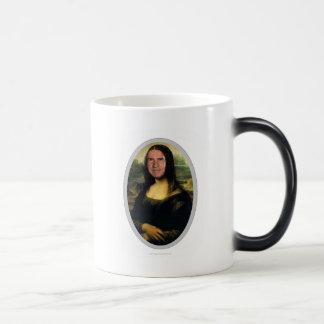 Mona Lisa Carnival Cutout mug