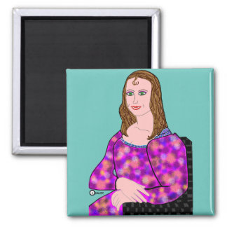 Mona Lisa Cartoon Image Magnet
