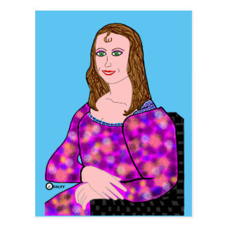Mona Lisa Cartoon Image Postcard