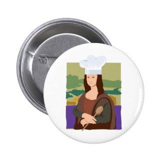 Mona Lisa Chef Button