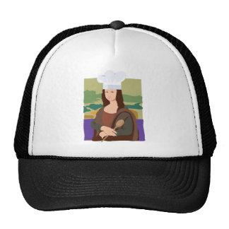 Mona Lisa Chef Trucker Hats