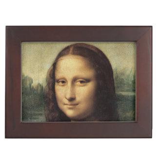 Mona Lisa close up by Leonardo da Vinci Keepsake Box