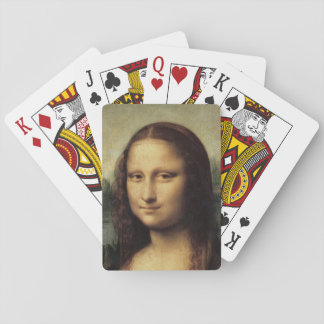 Mona Lisa close up by Leonardo da Vinci Playing Cards