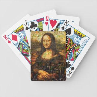 mona lisa collage - mona lisa mosaic - mona lisa bicycle playing cards