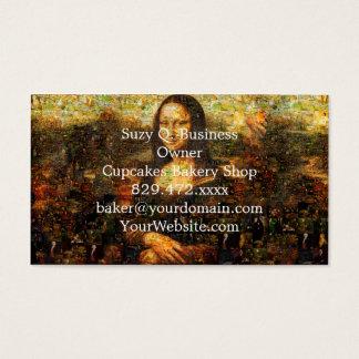 mona lisa collage - mona lisa mosaic - mona lisa business card