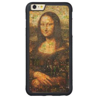 mona lisa collage - mona lisa mosaic - mona lisa carved maple iPhone 6 plus bumper case