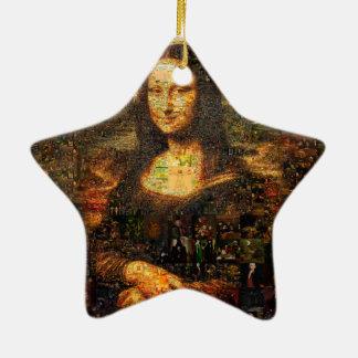 mona lisa collage - mona lisa mosaic - mona lisa ceramic ornament