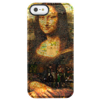 mona lisa collage - mona lisa mosaic - mona lisa clear iPhone SE/5/5s case