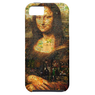mona lisa collage - mona lisa mosaic - mona lisa iPhone 5 cover