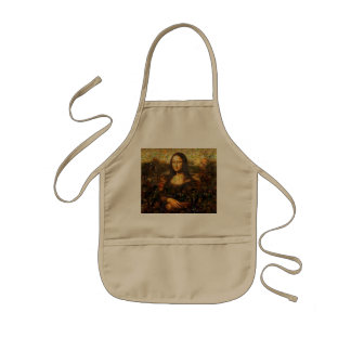 mona lisa collage - mona lisa mosaic - mona lisa kids apron