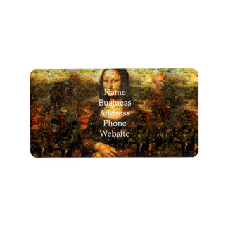 mona lisa collage - mona lisa mosaic - mona lisa label