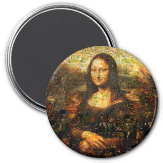 mona lisa collage - mona lisa mosaic - mona lisa magnet