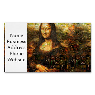 mona lisa collage - mona lisa mosaic - mona lisa Magnetic business card