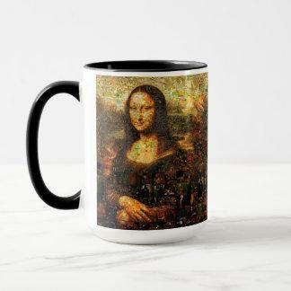 mona lisa collage - mona lisa mosaic - mona lisa mug