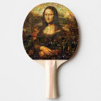 mona lisa collage - mona lisa mosaic - mona lisa ping pong paddle