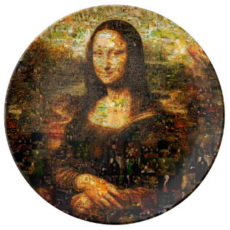mona lisa collage - mona lisa mosaic - mona lisa plate