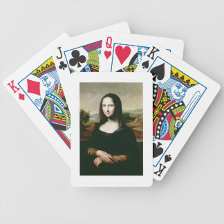 Mona Lisa, copy of the painting by Leonardo da Vin Poker Deck