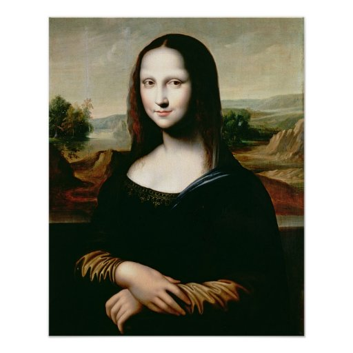 Mona Lisa, copy of the painting by Leonardo da Vin Print