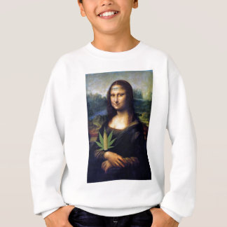 Mona Lisa cornnabis Sweatshirt