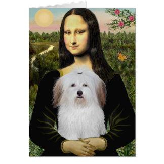 Mona Lisa - Coton De Tulear Card