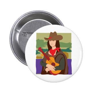 Mona Lisa Cowgirl Pin