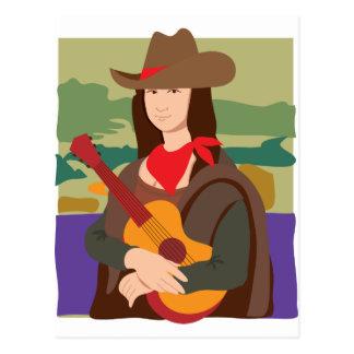 Mona Lisa Cowgirl Postcard