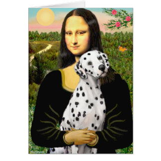 Mona Lisa - Dalmatian Card