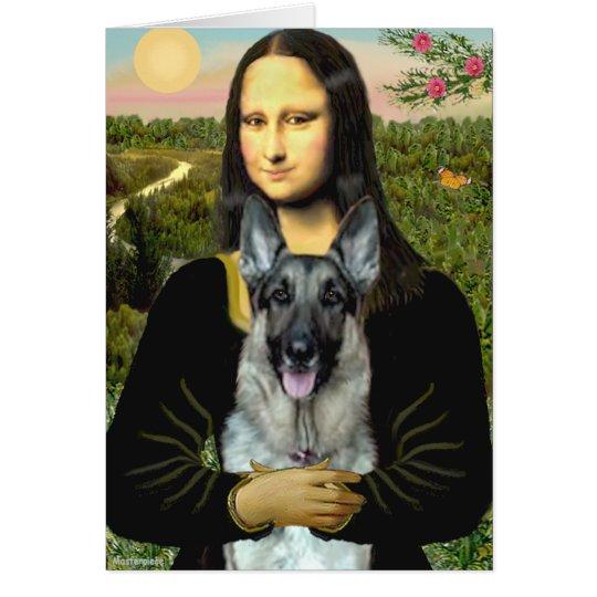 Mona Lisa - German Shepherd 12 Card