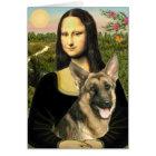 Mona Lisa - German Shepherd 2 Card