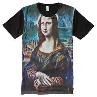 Mona Lisa Ghost Portrait All-Over Print T-Shirt
