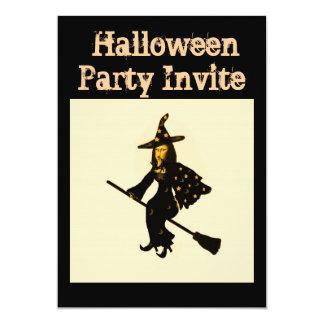 """Mona Lisa goes to Halloween party""* 13 Cm X 18 Cm Invitation Card"