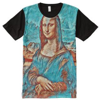 Mona Lisa Gogh Version Portrait All-Over Print T-Shirt
