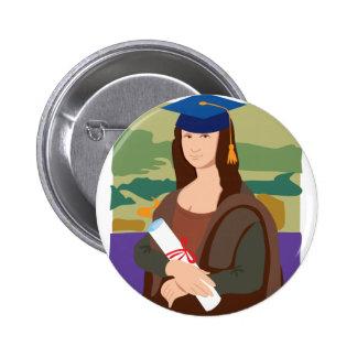 Mona Lisa Graduate 6 Cm Round Badge