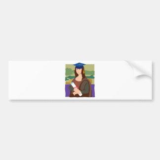 Mona Lisa Graduate Bumper Sticker