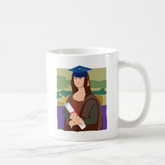 Mona Lisa Graduate Coffee Mugs