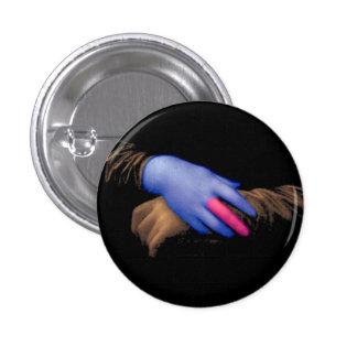 Mona Lisa hands by Fred Wilder 3 Cm Round Badge