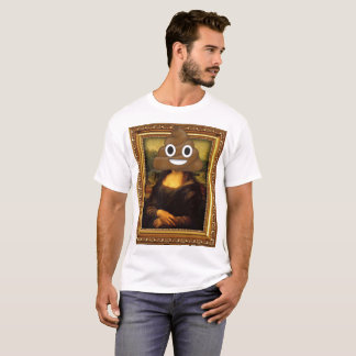 Mona Lisa Happy Poop T-Shirt