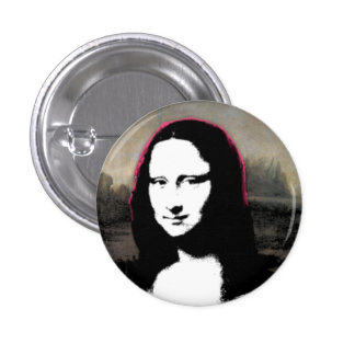 Mona Lisa Head 3 Cm Round Badge