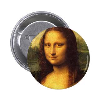 Mona Lisa Head Detail - Leonardo Da Vinci Pinback Button