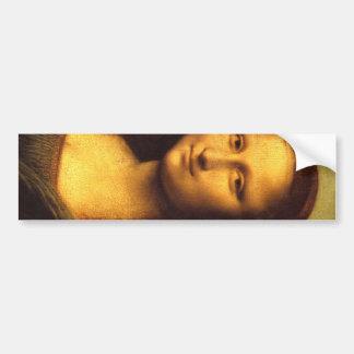 Mona Lisa Head Detail - Leonardo Da Vinci Car Bumper Sticker