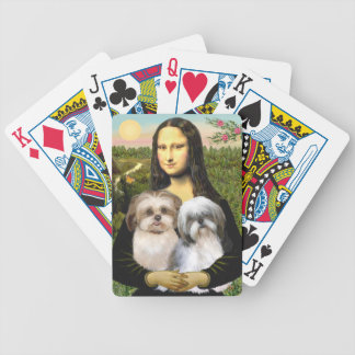 Mona Lisa & her Two Shih Tzus Poker Deck