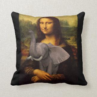 Mona Lisa Hugs Elephant Cushion