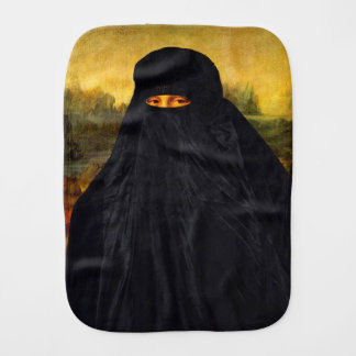 Mona Lisa In Burqa Burp Cloth