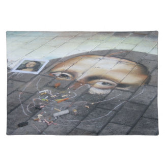 Mona Lisa in Chalk Placemat